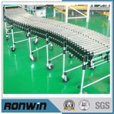 Double Row Flexible Extendable Free Curve Gravity Roller Conveyor