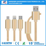 3 in 1 USB Cable for All Smart Phone Micro USB Type C Ios Cable