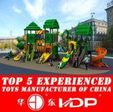 2017 Plastic Material and Outdoor Playground Type Kids Play Equipment Slides (HD15A-021A)