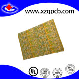Four Layers Yellow Ink HASL Lead Free Customized PCB Printed