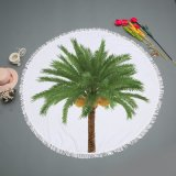 Hot Sale Tree & Leaves Design Round Beach Mat Picnic Blanket