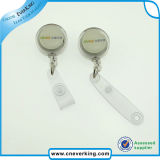 High Quality Colorful Logo Imprint Metal ID Badge Reel