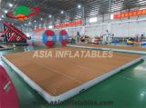 6 X 8 M Large Inflatable Floating Boat Dock Platform, Teak Inflatable Platform Floating Island Dock