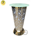 Newest Design Fashion Style Stainless Steel Metal Glass Top for Bar Table