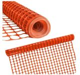 Heavy Duty Orange Safety Barrier Mesh Fencing 1mtr X 50mtr