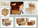 Pine Wood Box with Burn Printing for Promotion
