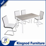 General Use Square Dining Furniture Wooden Pictures Glass Table