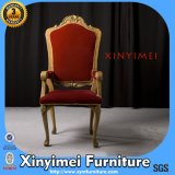 Antique European Wooden Dining Room Armchair in Red Color (XYM-H98)