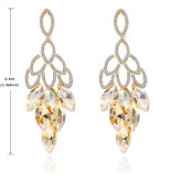 New Design Full of Diamond Long Pendant Earrings