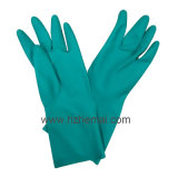 Green Nitrile Industrial Gloves Safety Chemical Work Glove