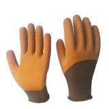 China Wholesale Polyester Shell Latex Foam 3/4 Coated Safety Work Glove, Hand Gloves