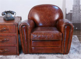 Classic Luxury Leather Hotel Club Arm Chair Antique Furniture (QS-621)