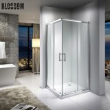 Factories Bathroom Square Sliding Doors Tempered Glass Simple Shower Enclosure