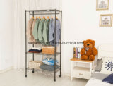OEM Portable Wardrobe Rack Ikea Bedroom Metal Garment Closet Organizer