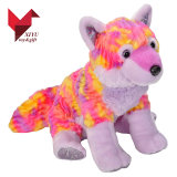 Amusement Plush Toy Colorful Wolf