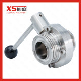 Stainless Steel AISI304 Hygenic Thread-Clamp Butterfly Valves