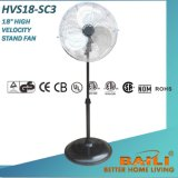 "18"" High Velocity Stand Fan with Oscillation and Chrome Grilles"