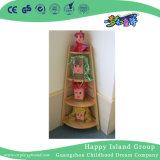 School Rustic Solid Wooden Flower Pot Shelf (HG-4108)