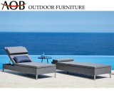 Modern Outdoor Seaside Balcony Hotel Lounge Fabric Furniture Recliner Beach Chair Sun Lounger with Wheel