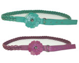 Flower Buckle Lady′s Braid Belts (KY3516)