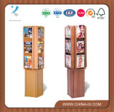 Floor Standing 4 Sided Literature Stand with 24 Adjustable Pockets