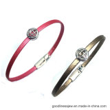 Leather Bracelet with 925 Silver Charms Factory Price (BT6736)