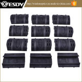Black Color 12 Pack Rubber Snap Airsoft Rail Covers