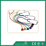 Ce/ISO Approved Medical Stethoscope Colored Dual Head for Adult (MT01015002)