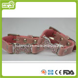 Set Dril Pink Fashion Pet Collar Dog Collar