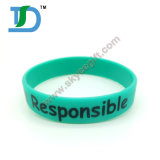 Sport Silicone Wristband with Double Side Silcione Bracelets