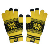 Jacquard iPhone Touchscreen Knitted Glove with Snowflake (JRAC050)
