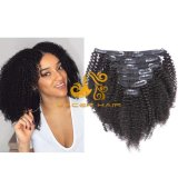 "AC1b off Black Afro Kinky Curly 8""-26"" Remy Human Hair Clip in Hair Extension in Stock"