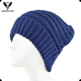 Women's Winter Acrylic Knitted Slouchy Hat with Cuff