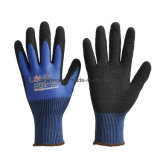 Black Latex Foam Coated 13 Gauge Nylon Labor Safety Work Rubber Hand Gloves