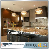 G684 Basalt Black Granite Kitchen Countertop with Eased Edge Treatment