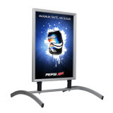 A1 Sidewalk Sign for Posters, with Spring Base, 2 Sided, Snap Open - Silver