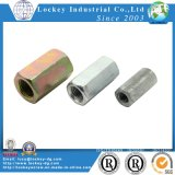 Carbon Steel Hex Coupling Nut Long Nut Yellow Zinc