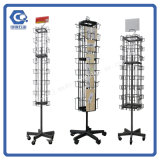 Metal Floor Wire Rotation Greeting Card Display Racks for Sale