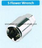 5 noix M14X1.5 de roue de Heptagon des écrous de blocage M14X1.5 de fleur