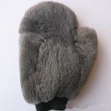 Guanti del bagno del guanto mezzo della lavata della lana d'agnello che puliscono guanto mezzo