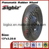 Durável de alta qualidade pneumática 3,25-8 roda de borracha