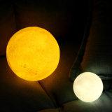 [3د] طبق [لد] قمر لمس خفيفة مفتاح غرفة نوم ليل مصباح