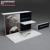 Knall-Entwurfs-Kostenzähler-Glas-Regal-Acrylverkaufsmöbel für Sonnenbrillen