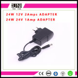 Adattatore di buona qualità 12V 2A 24W del Ce, adattatore di 12V 24W, adattatore di 24W LED