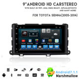 Toyata Sienna 2010-2014년을%s Vshauto Eightcore Android8.1 차 DVD 영상