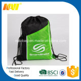 Sport Gym Drawstring Bag com bolso lateral