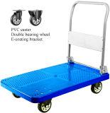 Plastiklaufkatze-Qualitäts-Ladeplatten-Hand-LKW der plattform-300kgs mit Belüftung-Rädern