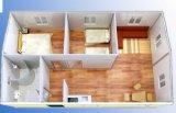Chambre préfabriquée en acier de luxe de panneau de mur de sandwich au coût bas ENV