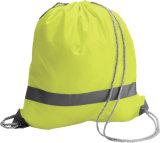 Le cordon promotionnel de bonne qualité de maille folâtre le polyester de sac