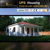 Casa prefabricada confiable del certificado de SABS con la azotea doble de la echada